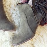 Wild Olive Fringe Booties: Alternate View #3