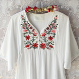 Wild Roses Dress in White (wholesale): Alternate View #3