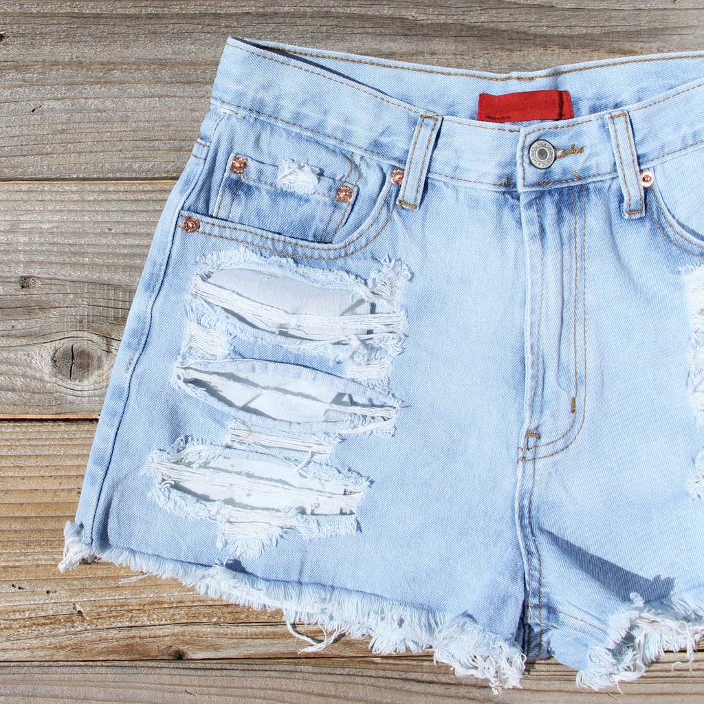 Download Wildwood Distressed Shorts, Sweet distressed jean shorts from Spool 72.   Spool No.72