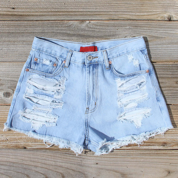 Wildwood Distressed Shorts: Featured Product Image