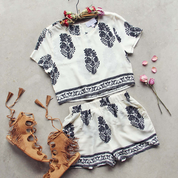 Willow Rose Romper Set: Featured Product Image
