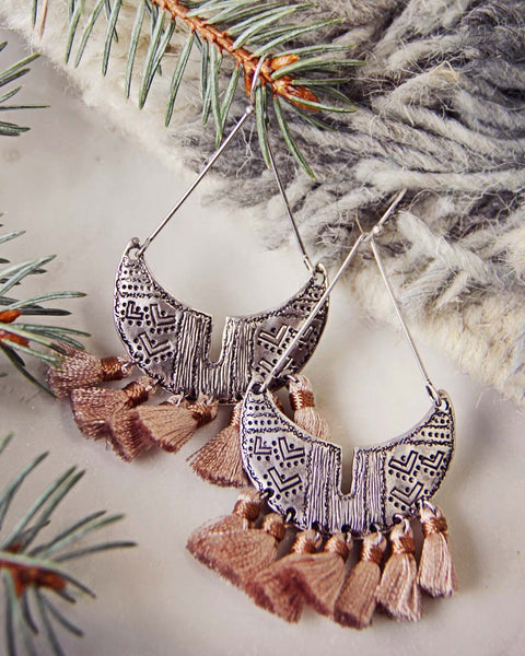 Winter Desert Tassel Earrings: Featured Product Image