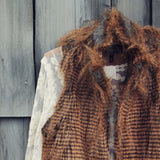 Winter Moon Faux Fur Vest: Alternate View #2
