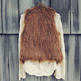 Winter Moon Faux Fur Vest: Alternate View #3