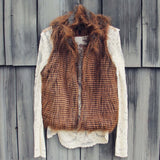 Winter Moon Faux Fur Vest: Alternate View #1