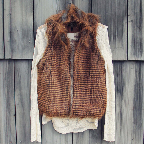 Winter Moon Faux Fur Vest: Featured Product Image