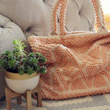 Winter Peach Tote: Alternate View #2