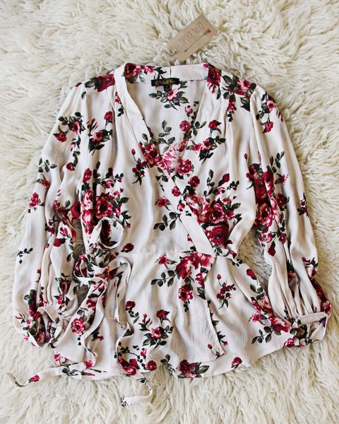Winter Rose Wrap Top: Featured Product Image