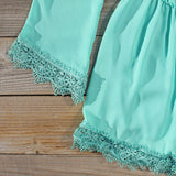 Wintertide Lace Romper in Mint: Alternate View #3