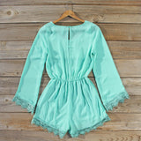 Wintertide Lace Romper in Mint: Alternate View #4