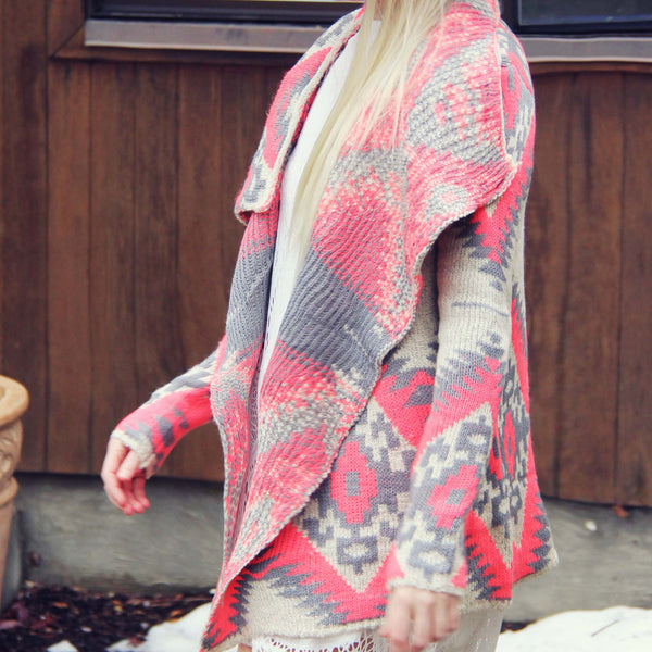 Winter Wanderer Sweater in Coral: Featured Product Image