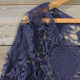 Winterly Lace Blouse in Navy: Alternate View #2