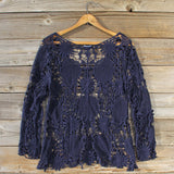 Winterly Lace Blouse in Navy: Alternate View #4