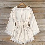 Wintertide Lace Romper in Cream: Alternate View #4