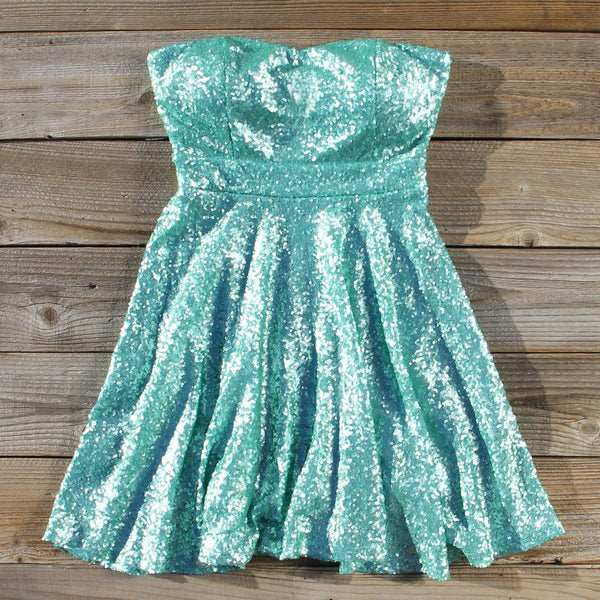 Wishing Star Party Dress in Mint: Featured Product Image