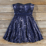 Wishing Star Party Dress in Navy: Alternate View #1
