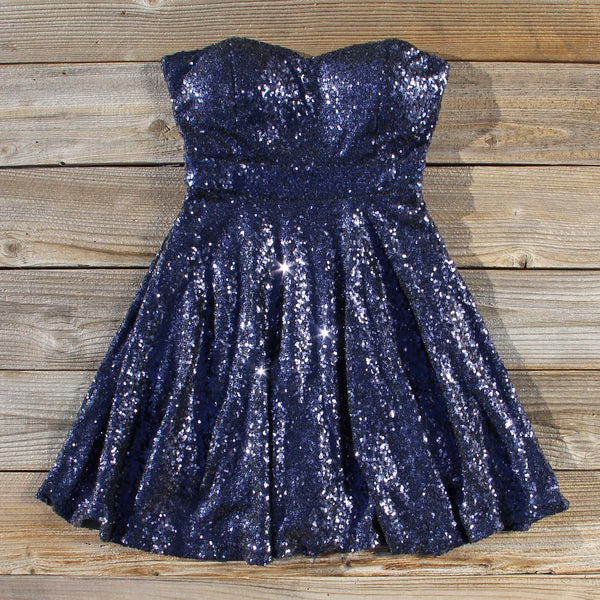 Wishing Star Party Dress in Navy: Featured Product Image