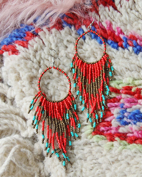 Wolf Mountain Earrings in Red: Featured Product Image