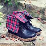 The Woodland Plaid Boots: Alternate View #1