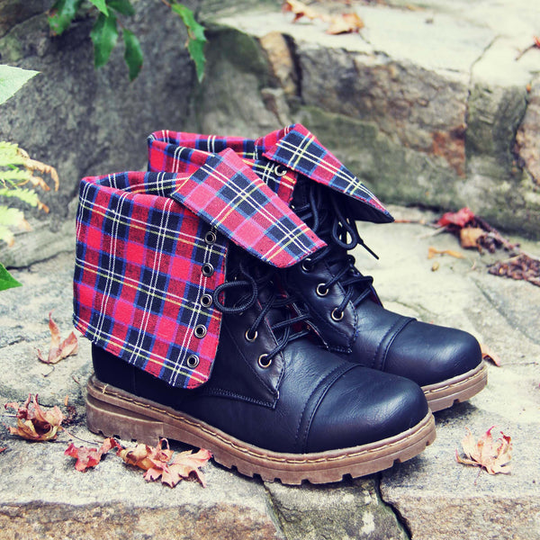 The Woodland Plaid Boots: Featured Product Image