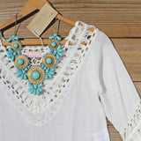 Woven Whites Tunic: Alternate View #2