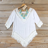 Woven Whites Tunic: Alternate View #1