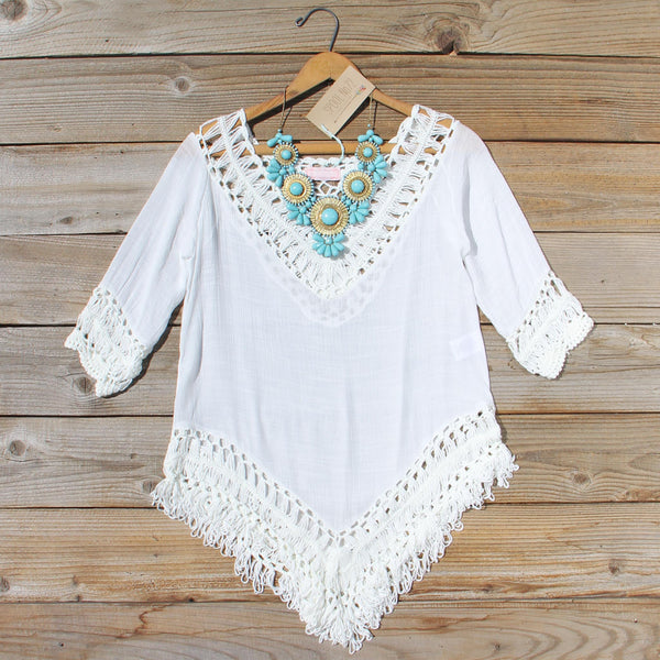 Woven Whites Tunic: Featured Product Image