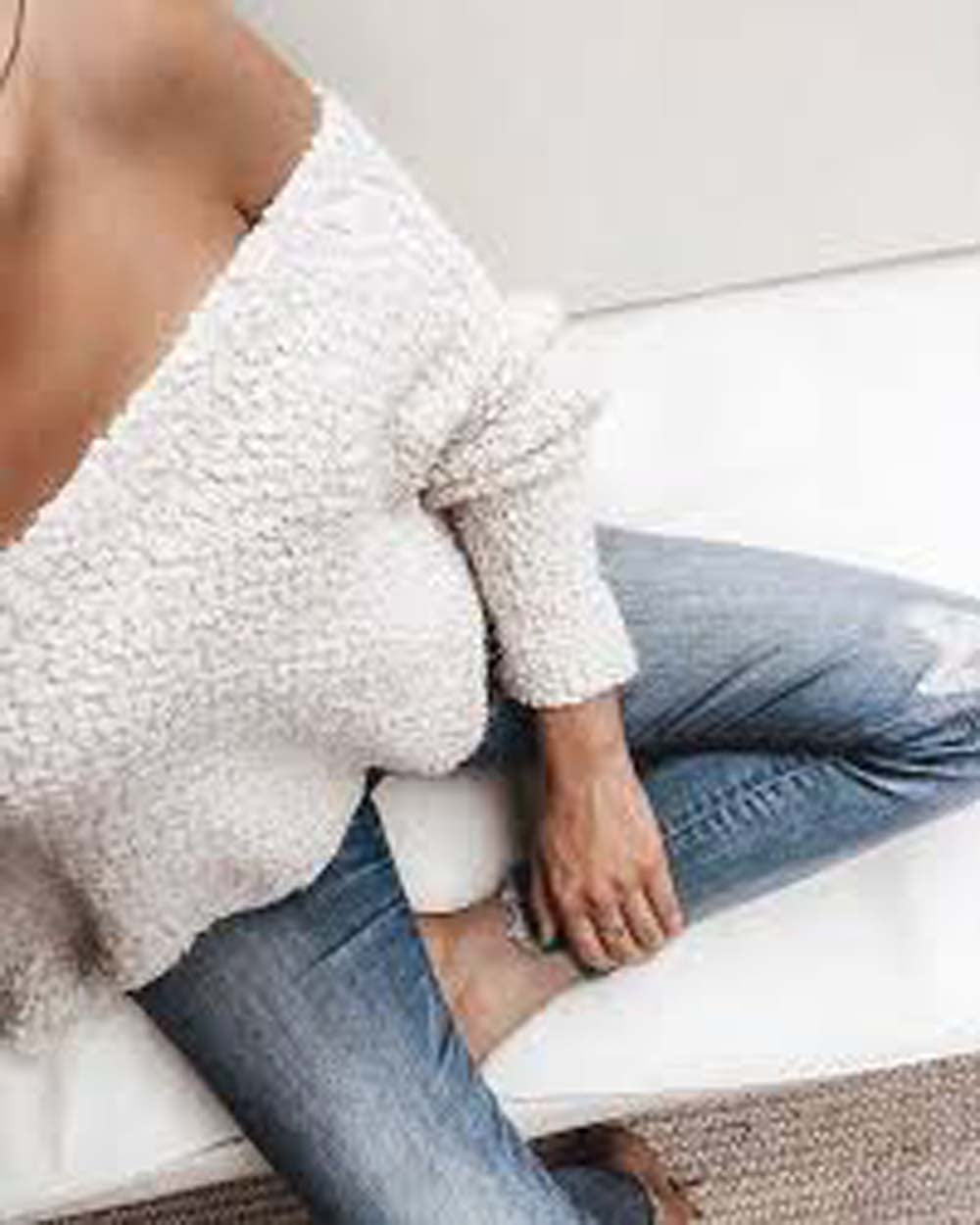 Venice Cozy Sweater in Cream