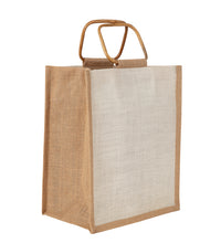 Load image into Gallery viewer, JB2610 - 6 Bottle Jute Bag Cane Handle