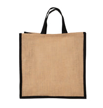 Load image into Gallery viewer, JB6005 - Jute Large Carry Bag - Natural / Black