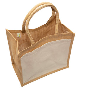 JB6111 - Jute Cotton Pocket Bag - Natural / Natural