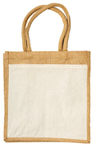 Load image into Gallery viewer, JB6111 - Jute Cotton Pocket Bag - Natural / Natural