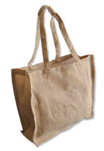JB6127 - Jute UK Carry Bag Long Handle, un-laminated