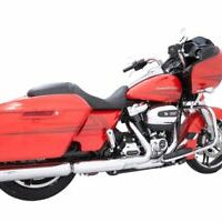 "TAB PERFORMANCE 4"" CHROME B.A.M STICK SLIP ON M8 MUFFLERS WITH SLASH/CHROME END CAPS (121-1297-C2-Z) - St Paul Harley-Davidson Parts & MotorClothes"