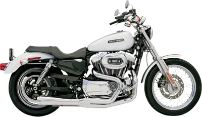 BASSINI ROAD RAGE 2into1 CHROME SHORT UPSWEPT (1800-1270) - St Paul Harley-Davidson Parts & MotorClothes