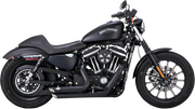 VANCE & HINES SHORT SHOTS STAGGERED BLACK 2 INTO 2 EXHAUST SYSTEM (1800-1633) - St Paul Harley-Davidson Parts & MotorClothes