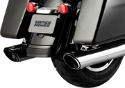 "VANCE & HINES CHROME 4"" TWIN SLASH SLIP-ON MUFFLERS (1801-1070)"