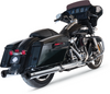 "S&S 4"" GRAND NATIONAL SLIP-ON MUFFLERS CHROME/CHROME END CAPS (1801-1203) - St Paul Harley-Davidson Parts & MotorClothes"