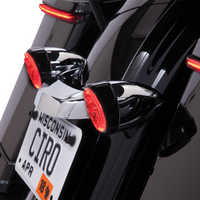 CIRO FANG REAR SIGNAL INSERTS BLACK/RED LENS (2040-2020) - St Paul Harley-Davidson Parts & MotorClothes
