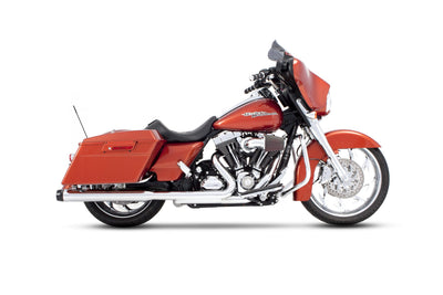 3.5″ SLIP-ON EXHAUST FOR HARLEY TOURING CHROME/BLACK END CAPS (500-0100) - St Paul Harley-Davidson Parts & MotorClothes