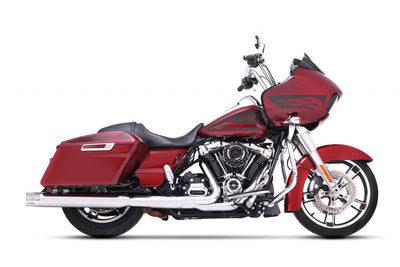 4″ SLIP-ON EXHAUST FOR HARLEY TOURING CHROME/CHROME END CAPS (500-0106C-MERGE) - St Paul Harley-Davidson Parts & MotorClothes