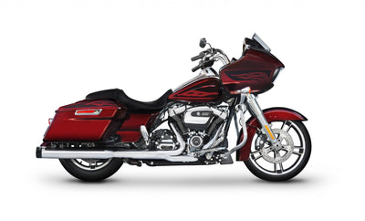 4″ SLIP-ON EXHAUST FOR HARLEY TOURING CHROME/BLACK END CAPS (500-0106) - St Paul Harley-Davidson Parts & MotorClothes