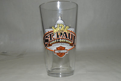 ST. PAUL HARLEY DAVIDSON PINT GLASS 20OZ. - St Paul Harley-Davidson Parts & MotorClothes
