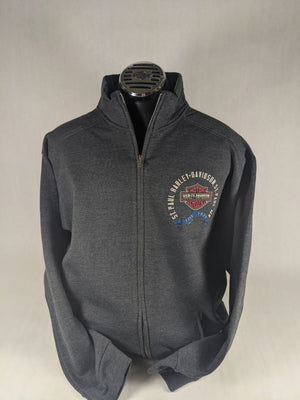 ST. PAUL HARLEY-DAVIDSON GREY ZIP SWEATSHIRT