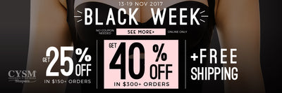 BLACK WEEK 2017 IS HERE, the best sales of the year.