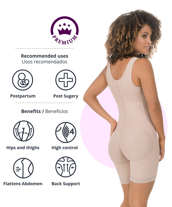 High Control Mid-Thigh Bodysuit - 455 style