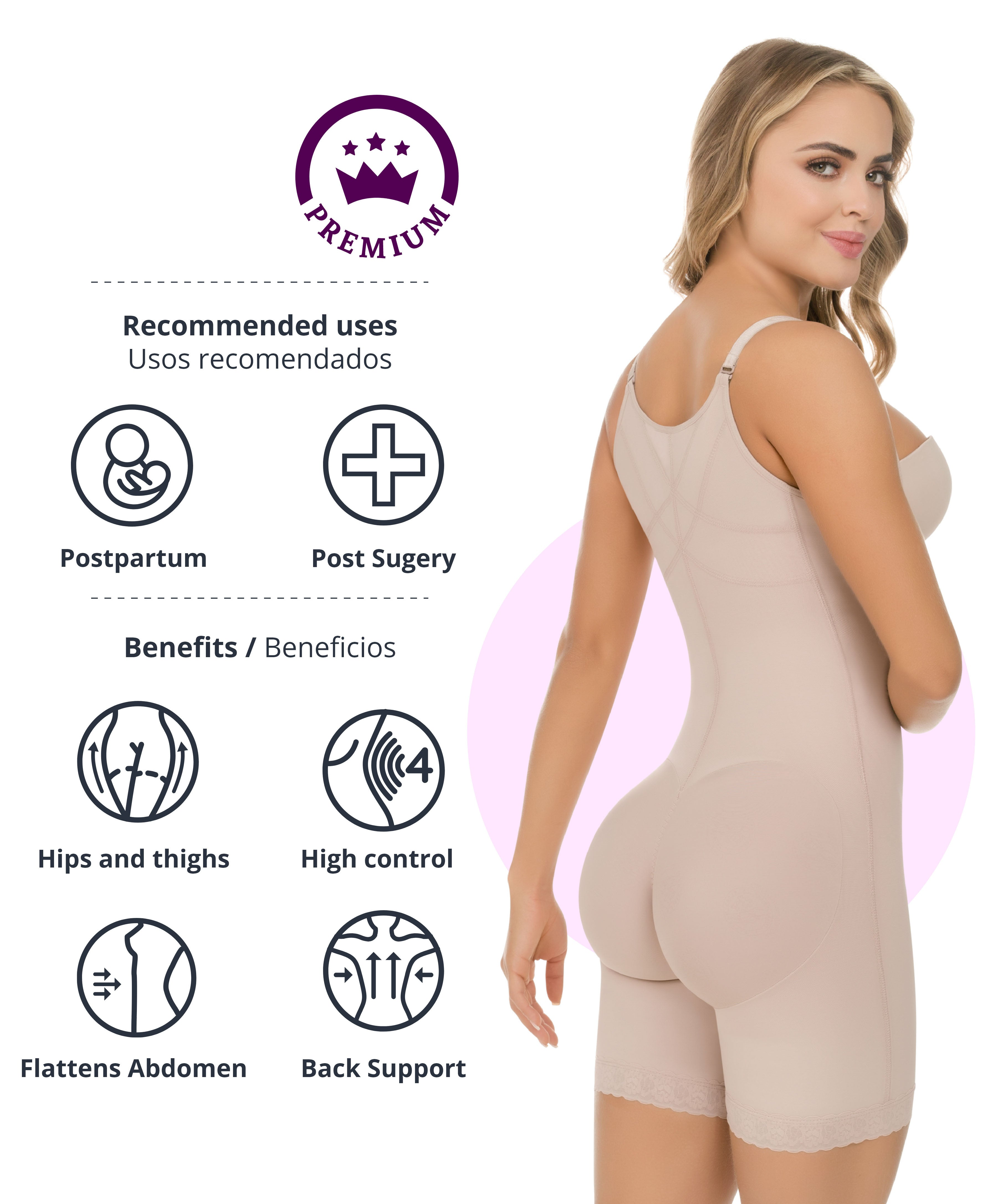 471 - Firm Control Bodysuit with Butt-lift