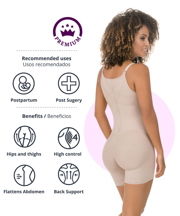 Braless Compression Bodysuit Boyshort - 435 style