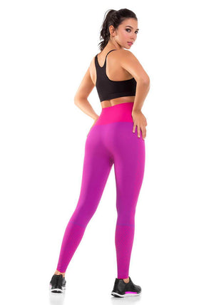 908 - Ultra Compression and Abdomen Control Fit Legging Fuchsia