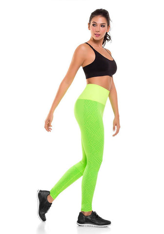 908 - Ultra Compression and Abdomen Control Fit Legging Lemon